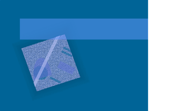 قالب تصميم ذو موجة زرقاء