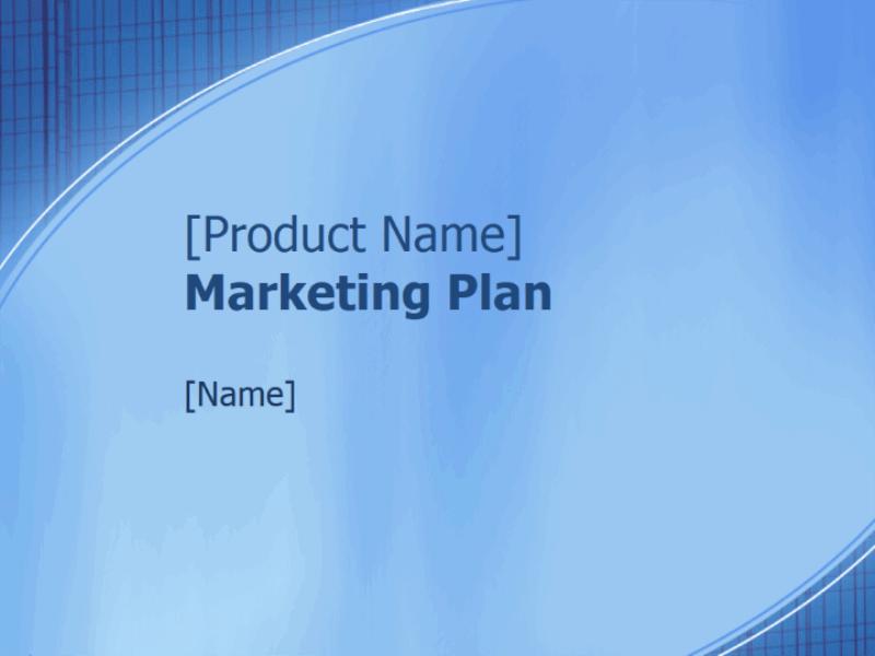 عرض تقديمي لخطة تسويق