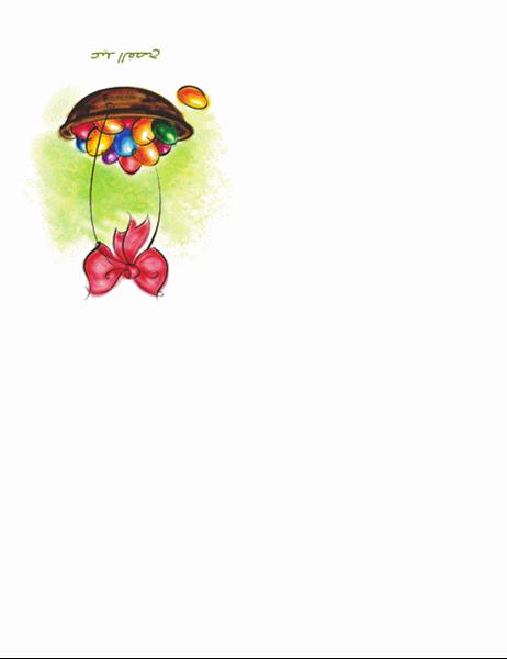بطاقة عيد الفصح (مع سلة بيض)