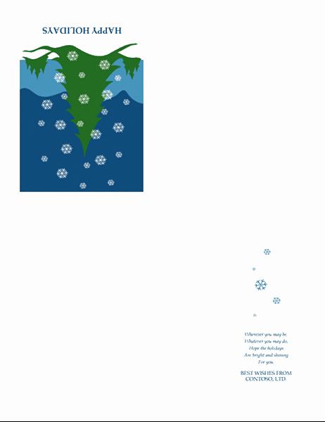 بطاقة عطلة من الأعمال (مع مشهد ثليجي)