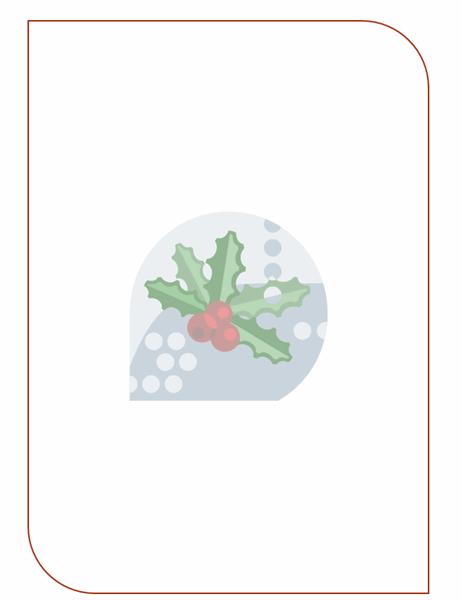 قرطاسية العطلات (مع علامة مائية ورقة الهولي)