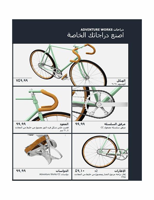 كتالوج منتجات Excel ثلاثي الأبعاد (نموذج دراجة)