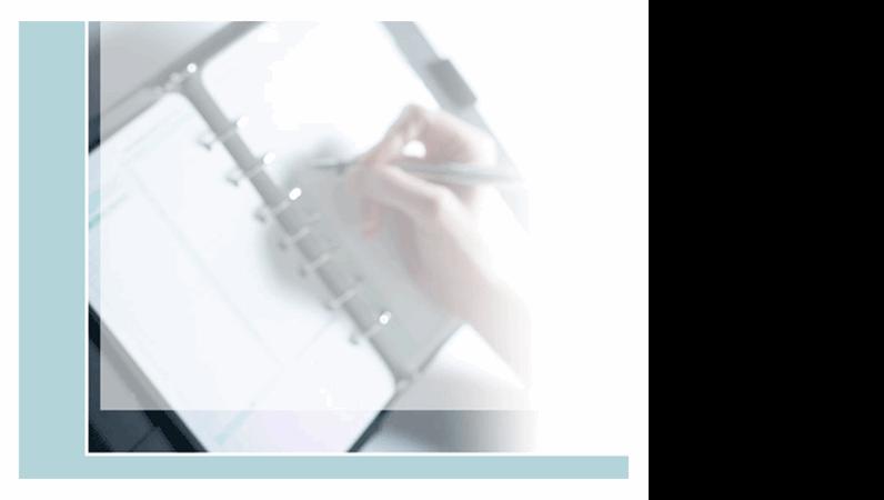 Шаблон на макет за едър план на писане