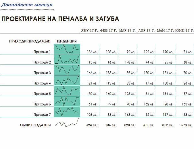 Отчет за приходите и разходите