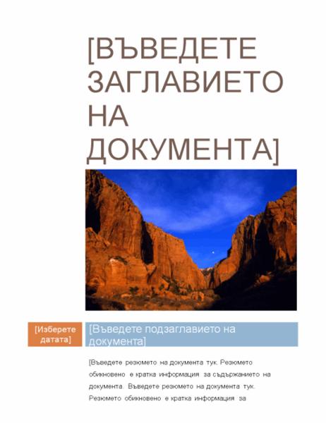 Отчет (междинен проект)