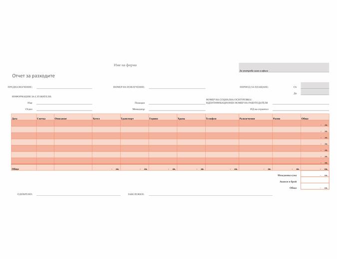 Отчет за разходите
