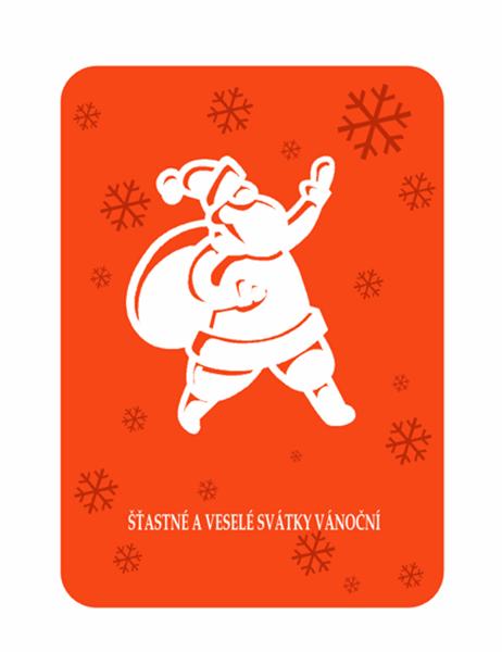 Sváteční přání s vánoční tematikou