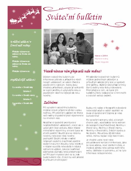 Sváteční bulletin (s vánočními motivy)