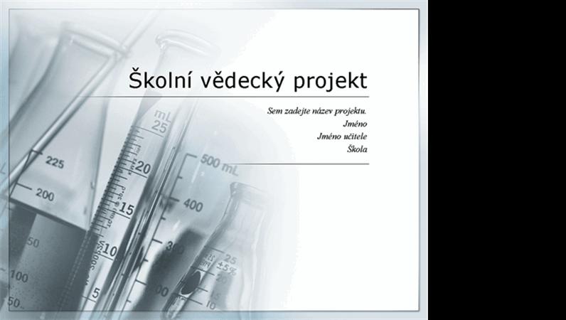 Prezentace pro školní vědecký projekt