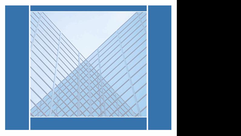 Šablona návrhu se zrcadlícími se budovami