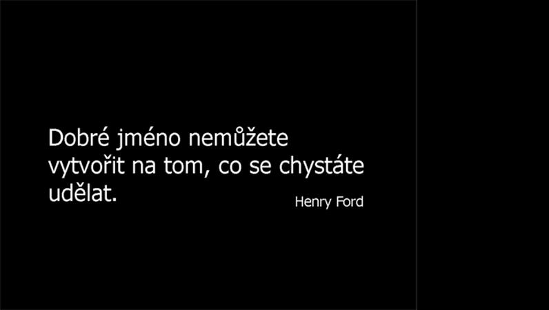 Snímek s citátem Henryho Forda