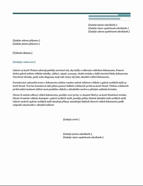 Urbanistický – dopis