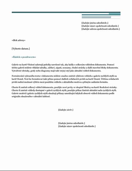 Urbanistický – dopis hromadné korespondence