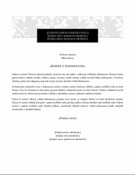 Černá kravata – dopis hromadné korespondence