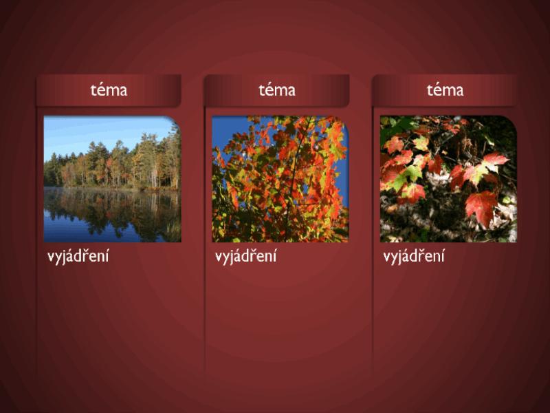 Obrázek SmartArt s obrázky na červeném pozadí