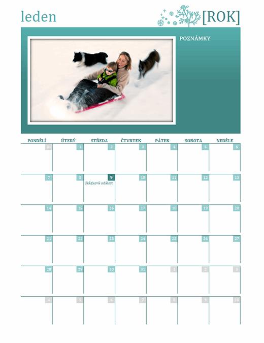 Sezónní rodinný kalendář (libovolný rok, pondělí–neděle)