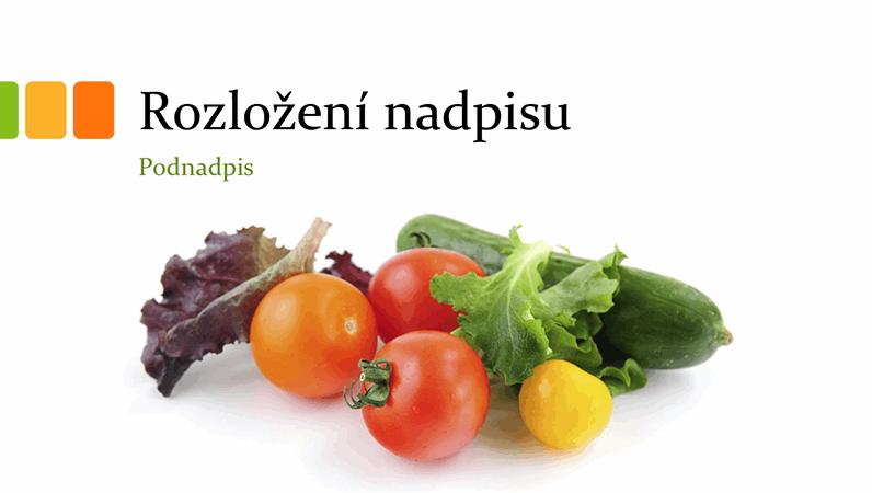Prezentace s čerstvou zeleninou (širokoúhlý formát)