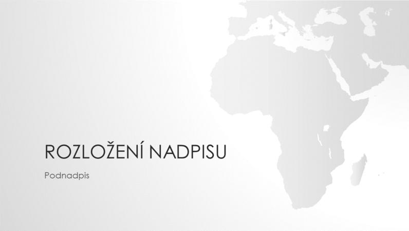 Prezentace ze série Mapy světa – africký kontinent (širokoúhlý formát)