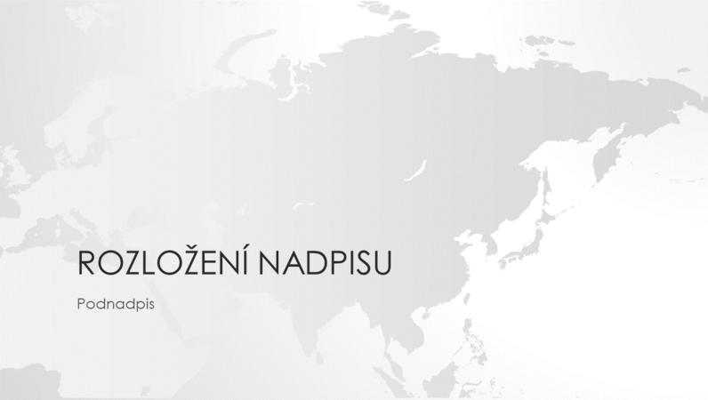 Prezentace ze série Mapy světa – asijský kontinent (širokoúhlý formát)