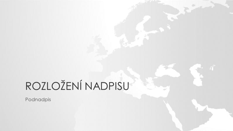 Prezentace ze série Mapy světa – evropský kontinent (širokoúhlý formát)