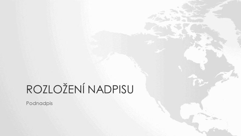 Prezentace ze série Mapy světa – severoamerický kontinent (širokoúhlý formát)