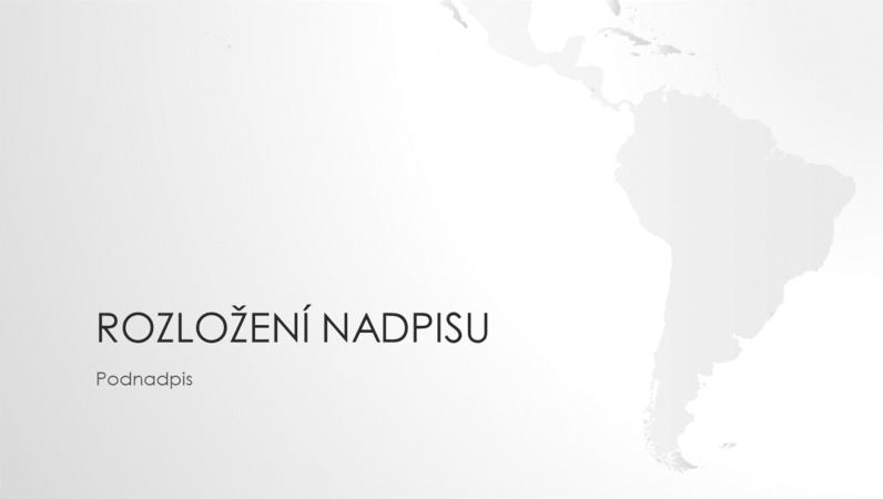 Prezentace ze série Mapy světa – jihoamerický kontinent (širokoúhlý formát)
