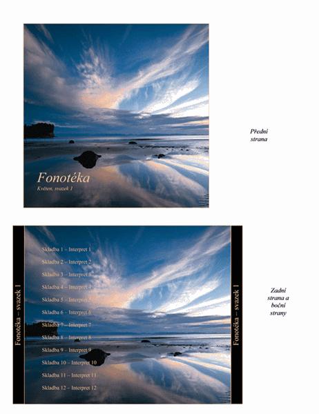 Vložka do obalů disků CD pro fonotéku