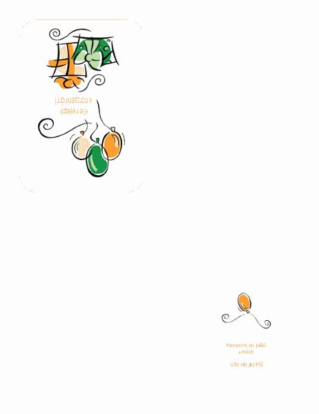 Přání k narozeninám (s balónky)
