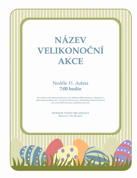 Oznámení velikonoční akce (s vejci)