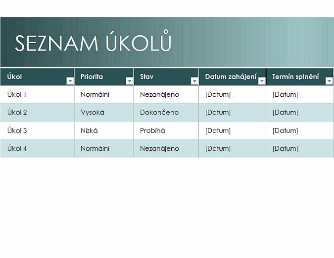Jednoduchý seznam úkolů