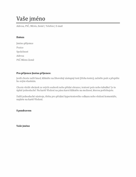 Průvodní dopis