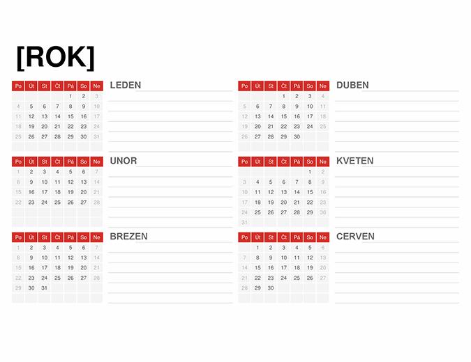 Kalendář pro libovolný rok