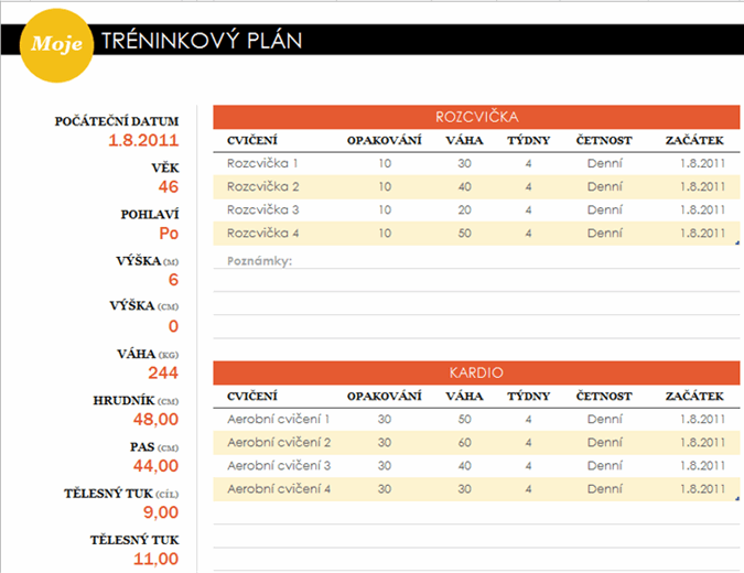 Tréninkový plán