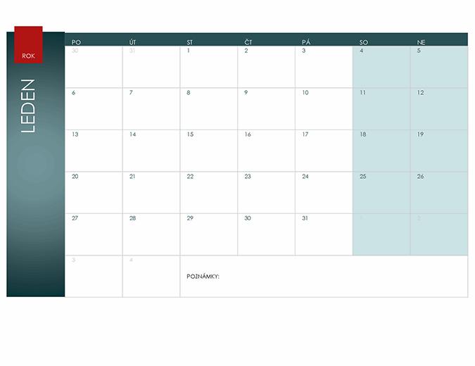 Kalendář na libovolný rok (motiv Ion)