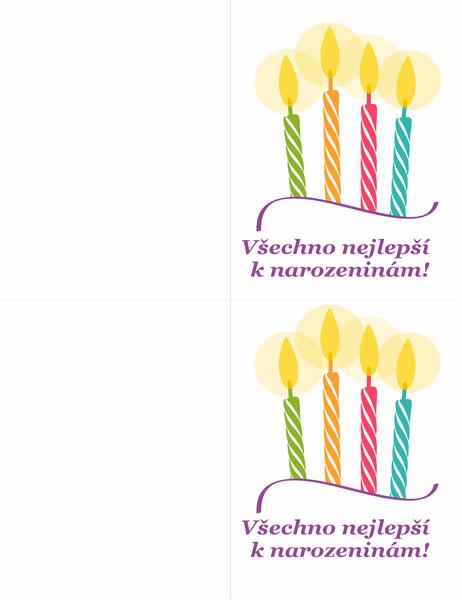 Blahopřání k narozeninám (2 na stránku)