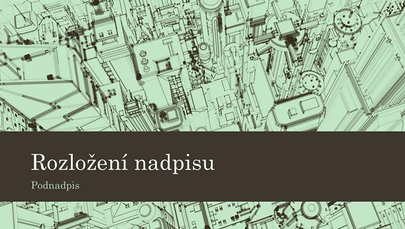 Firemní prezentace se skicou města na pozadí (širokoúhlý formát)