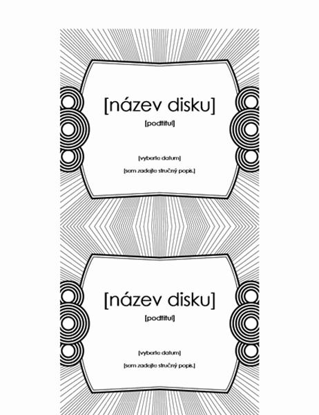 Vkládací štítek disku CD