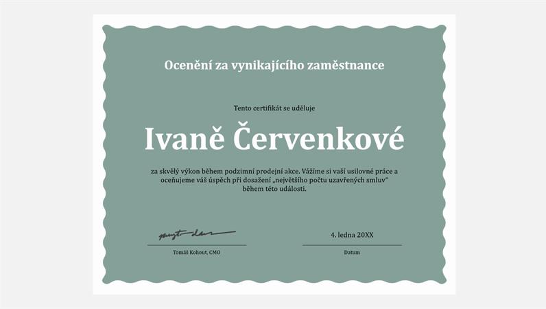 Diplom pro vynikajícího zaměstnance