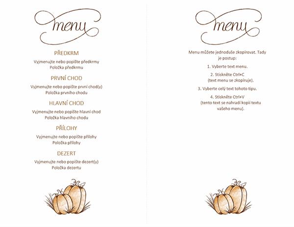 Sváteční menu