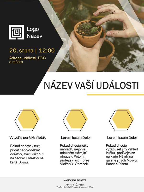 Leták malé firmy (zlatý návrh)