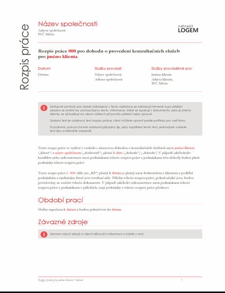 Rozpis práce (červený návrh)