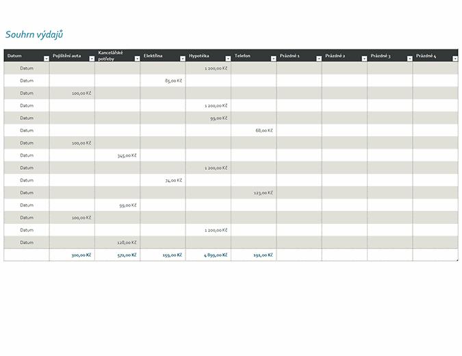 Výdajový deník