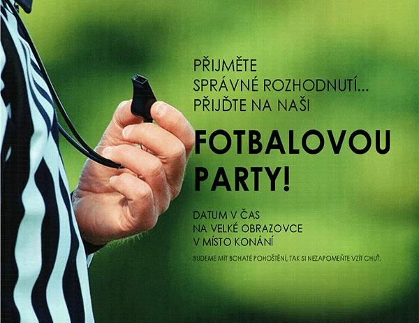 Leták o fotbalové party