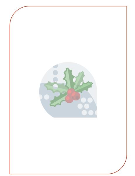 Vánoční šablona e-mailu (s vodoznakem cesmíny)