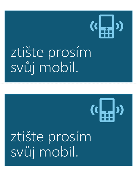 Cedule Zákaz mobilních telefonů (2 na stránce)