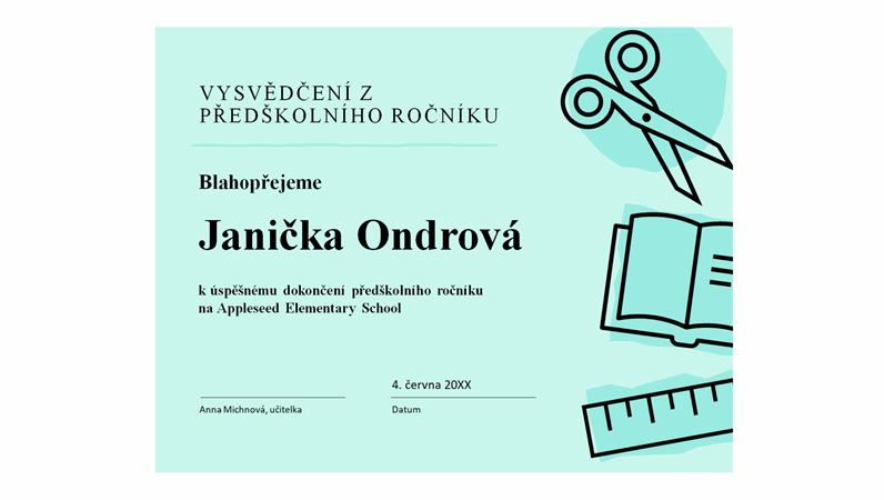 Diplom pro děti ve školce
