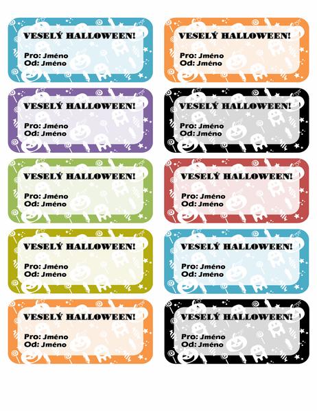 Štítky pro Halloween (10 na každé stránce)