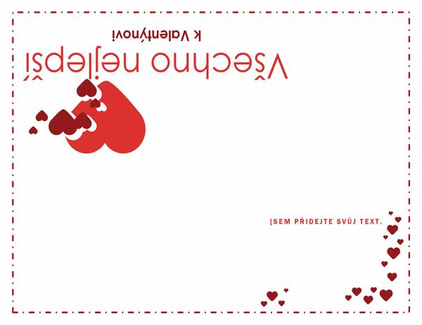 Valentýnské přání (s přeložením na čtvrtiny)
