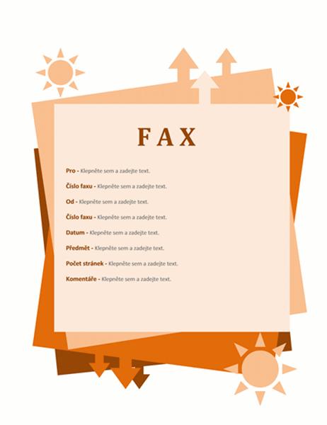 Úvodní stránka faxu