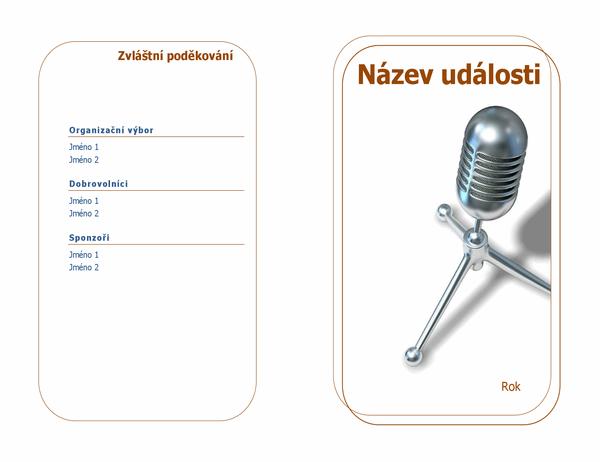 Program události (překládaný napůl)